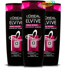 3x L'oreal Loreal Elvive For Women Triple Resist Reinforcing Shampoo 400ml