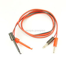 3feet Test Hook Clip to Banana male Plug leads probe cable