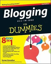 BLOGGING All-in-One for DUMMIES by Susan Gunelius 2012 Paperback 2nd Edition NEW