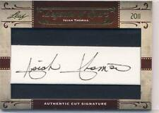 ISIAH THOMAS 2011 Leaf Legends of Sport CUT AUTO AUTOGRAPH DETROIT PISTONS HOF**