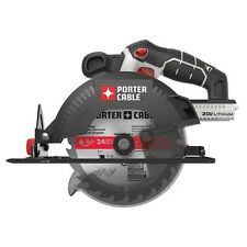 "New Porter Cable PCC660B 20V Max Li-Ion Cordless 6-1/2"" Circular Saw with Blade"