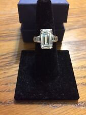 A-List Celebrity Diamonesk Ring Sold Sterling Silver Size 6.5 Dazzling!