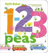 1-2-3 Peas by Keith Baker (2014, Board Book)