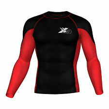 Para Hombre compresión superior Skin Fit Active Wear capa base Térmica Gimnasio Wear traje de surfista