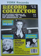 RECORD COLLECTOR MAGAZINE - Issue 198 February 1996 - Punk / Madonna / Marion
