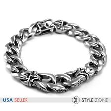 Fashion Vintage Gothic Men's Stainless Steel Bracelet Rock Punk O Link Chain B18