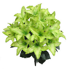 14 Tiger Lilies Lily ~ KIWI GREEN LIME~ Silk Wedding Flowers Bridal Centerpieces