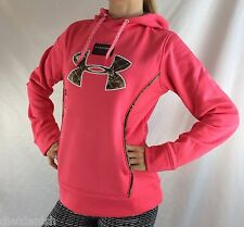 Under Armour Women's Fleece Sweater Hoodie Pink Camo Size L
