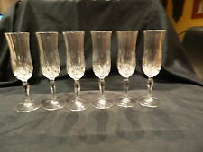 RCR ROYAL CRYSTAL ROCK OPERA SIX CHAMPAGNE FLUTES 150mls