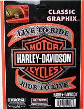 harley davidson genuine motorcycles decal sticker  hd bike chrome shield color