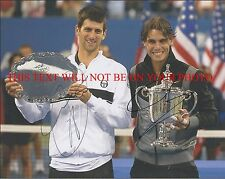 NOVAK DJOKOVIC AND RAFAEL NADAL SIGNED AUTOGRAPHED 8x10 RP PHOTO TENNIS CHAMPS