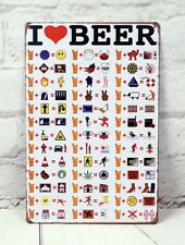 I Love Beer Vintage Metal Tin Sign Funny Bar Pub Shop Decor Poster Advertising