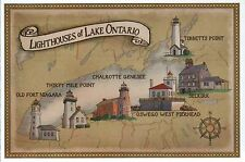 Lighthouses of Lake Ontario, Great Lakes, New York, Canada --- Modern Postcard