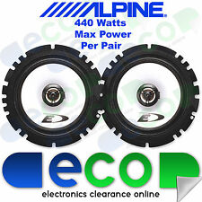 Fiat Punto 1993-2005 Alpine 16cm 6.5Inch 440 Watts 2 Way Front Door Car Speakers