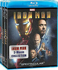 Iron Man: 3 Movie Collection (Blu-ray Disc, 2015, 3-Disc Set)
