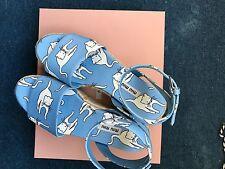 New miu miu shoes Sandals Cats Blue Platform