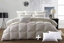 Snowman White Down King Size Bedding Comforter and 2pcs Goose Feather Pillows