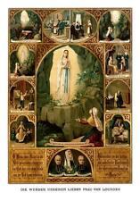Die Wunder unserer lieben Frau von Lourdes Bernadette St. Bütten Sankt A3 0108