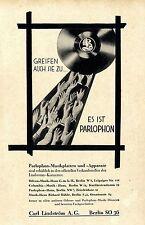 Carl Lindström A.G. Berlin Odeon- Musikhaus Parlophon- Musikplatten Apparate1928
