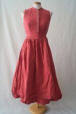 Vintage German pink apron sound of music victorian costume dress 6