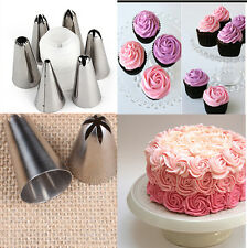 6 Pcs Icing Piping Nozzles Pastry Tips Cake Sugarcraft Decorating Tool Set KH13
