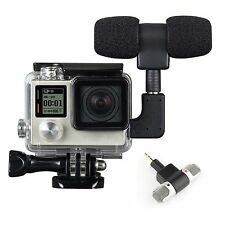 3.5mm External Microphone Mic Adapter Protective Frame Case For GoPro Hero 4 3+3