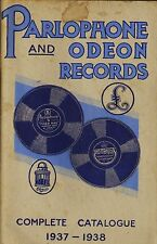 PARLOPHONE AND ODEON RECORD CATALOGUE complete catalogue 1937-1938 158 pages