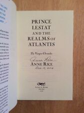 SIGNED - Anne Rice Vampire Chronicles: Prince Lestat  Realms of Atlantis HC Pic