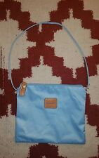 NWOT Brics Blue Nylon Top Zip Bag With Removable Strap Pouch Travel Never Used