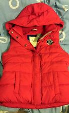 Abercrombi​e and Fitch Women Chelsea Vest Red, Jacket Outerwear, Size S, NWT