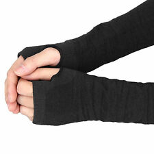 1Pair Soft Warm Winter Long Fingerless Knit Wool Arm Wrist Mittens Gloves