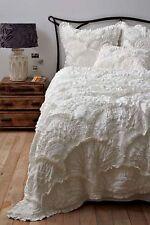 NEW Anthropologie Rivulets Queen Quilt Cream/White