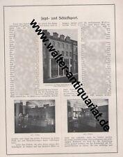 Jagd-+Schießsport Waffen Loesche Hannover 2 Seiten Werbeanzeige von 1924 Reklame