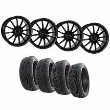 4x108 15x7 Team Dynamics Pro Race 1.2 Black Wheels & Toyo Proxes T1-R Tyres