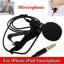 New Omnidirectional Lavalier Lapel Clip-on Condenser Microphone for iOS Android