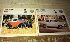 MORRIS 8 & OXFORD Cars  Colour Collector Cards x 2