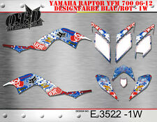 MOTOSTYLE-MX DEKOR KIT ATV YAMAHA RAPTOR 700 2006-2012 GRAPHIC KIT E3522 B