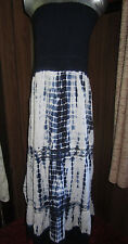 Speed Control NY navy tie dyed smocked maxi dress, Plus size 3X