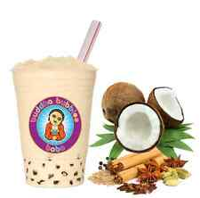 Coconut Chai Latte Boba / Bubble Tea Powder by Buddha Bubbles Boba (1 Pound)