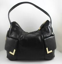 NWT Michael Kors Beverly Large Top Zip Black Leather Shoulder Bag Purse