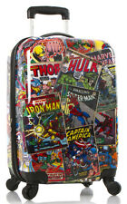"Heys Marvel Comics Luggage 21"" Carry On Spinner Hardside Suitcase Avengers NEW"