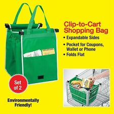 1 Pcs New Reusable Grocery Shopping Eco Bags Clip-To-Cart Grab Bag As Seen On TV