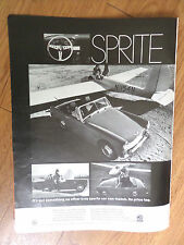 1969 British Motors MGB's MG Austin Ad Sprite