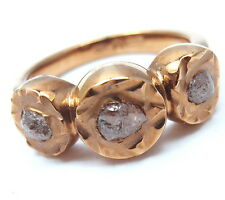New! Authentic Damiani 18k Rose Gold Rough Diamond Sharon Stone Maji Ring