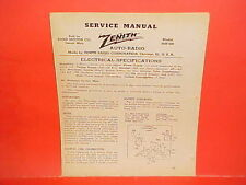 1940 1941 FORD MERCURY DELUXE CONVERTIBLE COUPE ZENITH AM RADIO SERVICE MANUAL