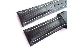 Carbon-Band schwarz, 20/18 (120/80) speziell passend für Breitling-Dornschließen