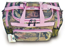 "20"" Pink Trim Mossy Oak Camo Duffle Bag Lady's Carry On Luggage Range Shoulder"