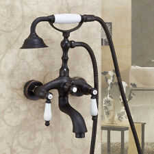 Wall Mount Bathtub Faucet Oil Rubbed Bronze Tub Mixer Tap with Hand Shower Spary