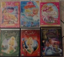 LOT DVD  DISNEY FEE CLOCHETTE/ BARBIE / LA PRINCESSE & LA GRENOUILLE  BEG/ TBE