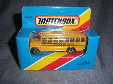 273B Vintage Matchbox 1981 MB 47 Autobus Scolaire Bus School District 2 US 1:76